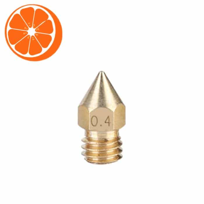 Hot Orange 3D MK3 0.4 nozzle