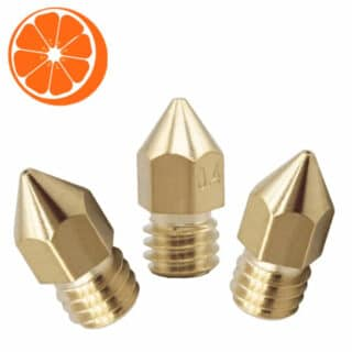 Hot Orange 3D Nozzle set MK8 Pack M